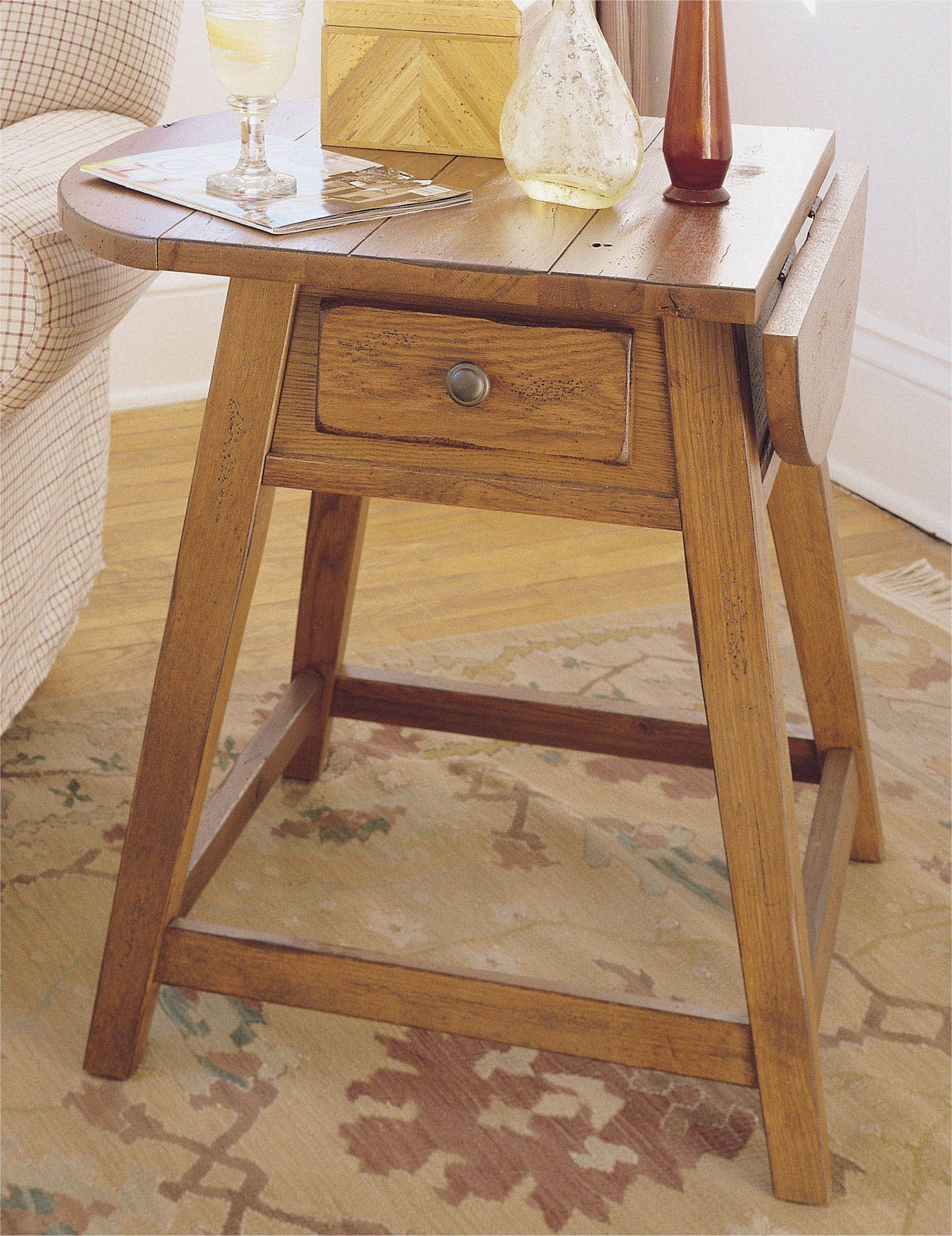 Attic Heirlooms Splay Leg End Table Original Oak By
