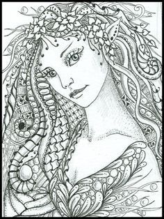 Intricate Fairy Coloring Pages Fairy Of The Forest Norma | coloring ...