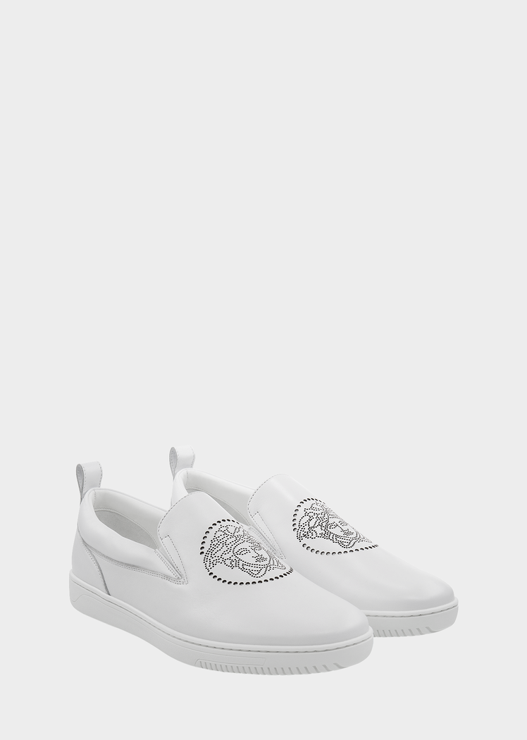 Versace Perforated Medusa Head Sneakers for Men | US Online Store