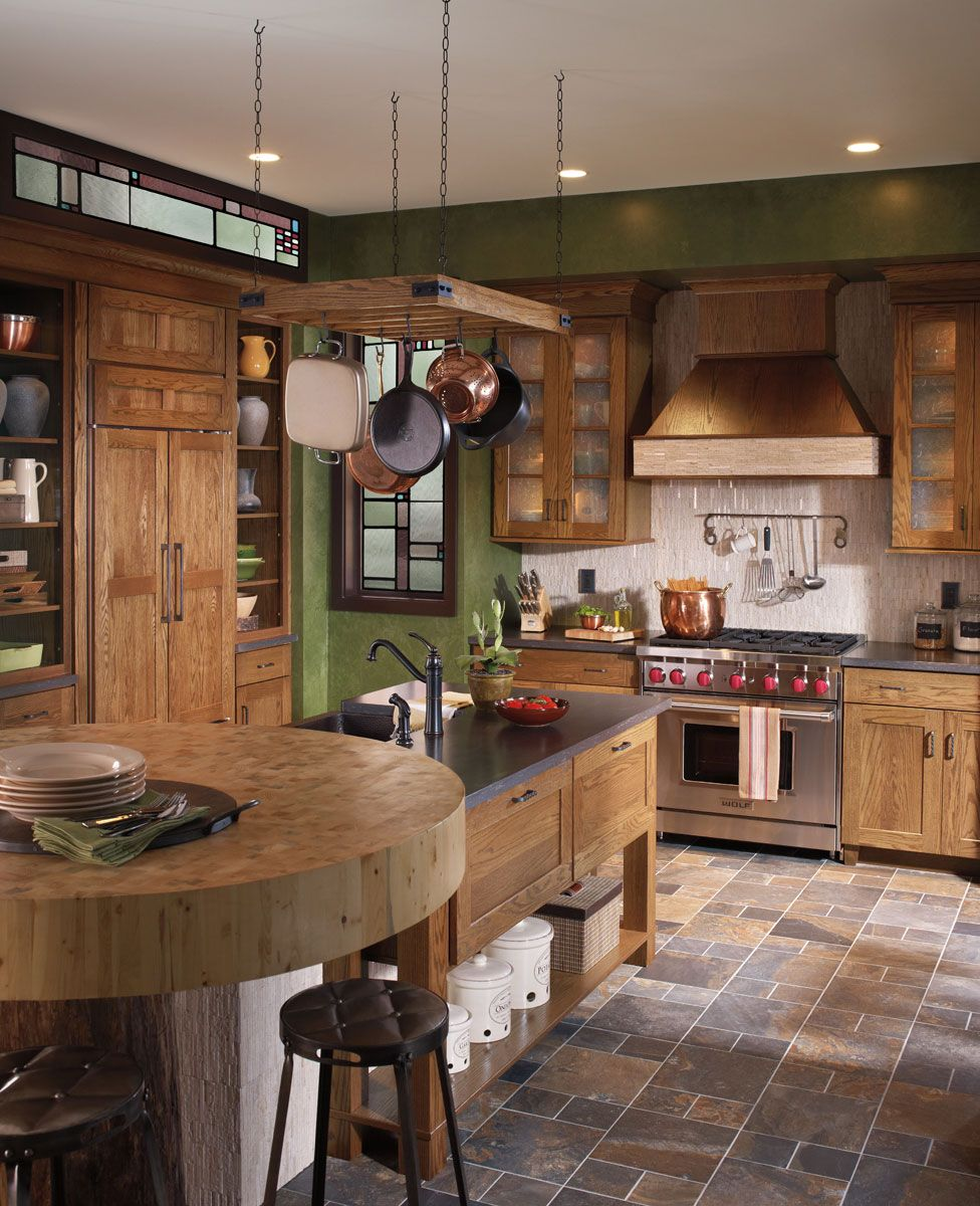 waypoint living spaces style 650 in oak tawny kitchen design small rustic kitchen on kitchen cabinets rustic farmhouse style id=62023