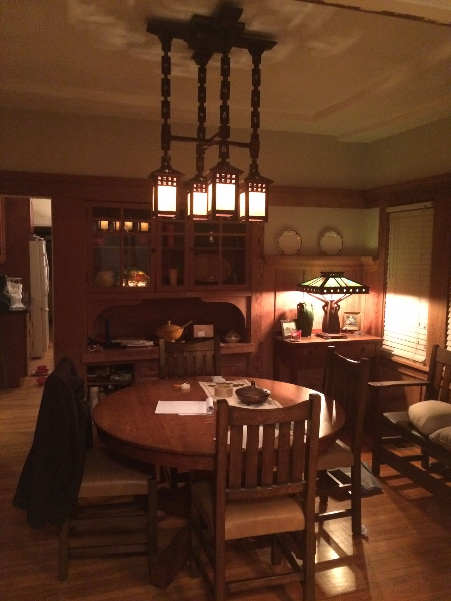 Arts and Crafts Craftsman Bungalow Dining Room