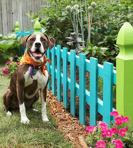 23 short garden fence