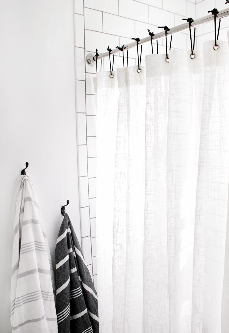 diy leather shower curtain rings diy