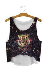 Galaxy Tiger Crop Top