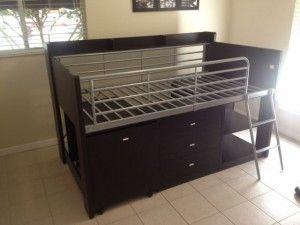 Charleston Storage Loft Bed With Desk From Walmart Quartos