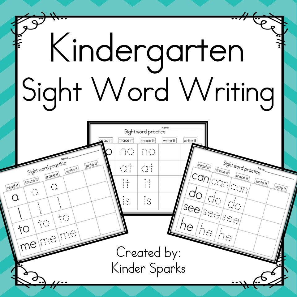 Kindergarten Sight Word Writing NO PREP | Pinterest | Kind