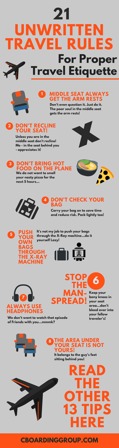 Airplane Etiquette: The Unwritten Rules for Traveling on a