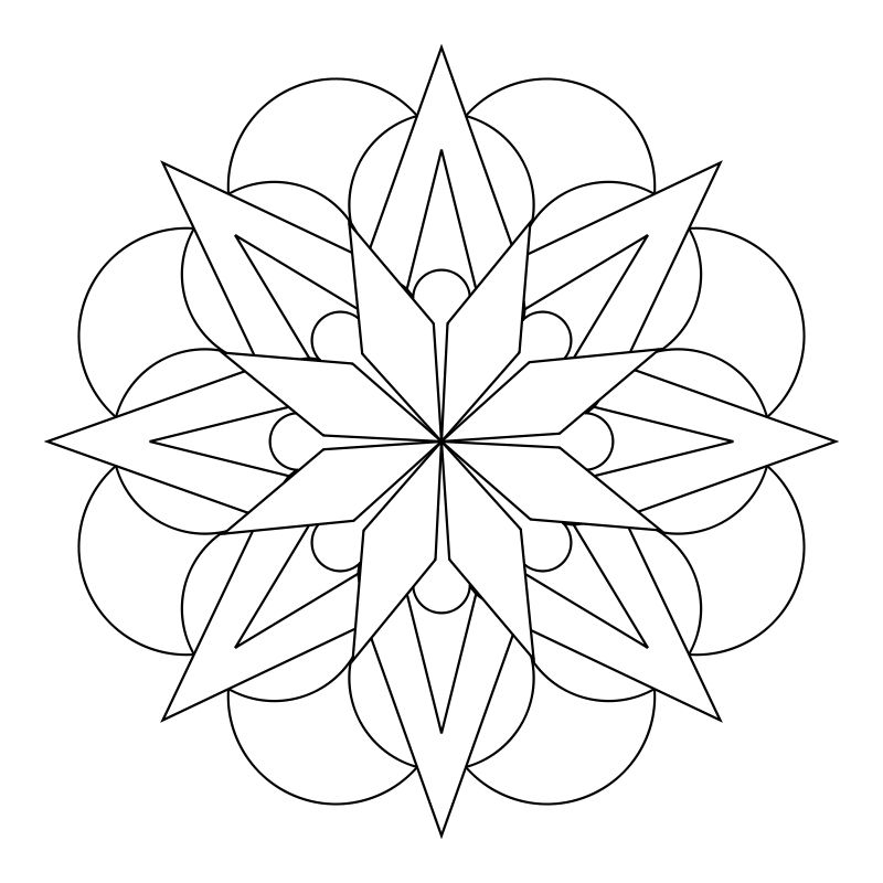 easy flower mandala coloring pages - photo#25