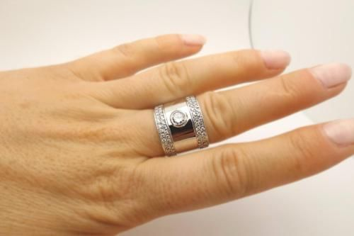Vintage Estate 1.22cttw Round Diamond Wide Engagement Ring Band 14k White Gold https://t.co/VcdT5IEiwD https://t.co/VqKassqbHu