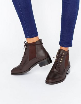 d7986b8858c ALIS Leather Lace Up Ankle Boots | Fashion Abroad | Lace up ankle ...