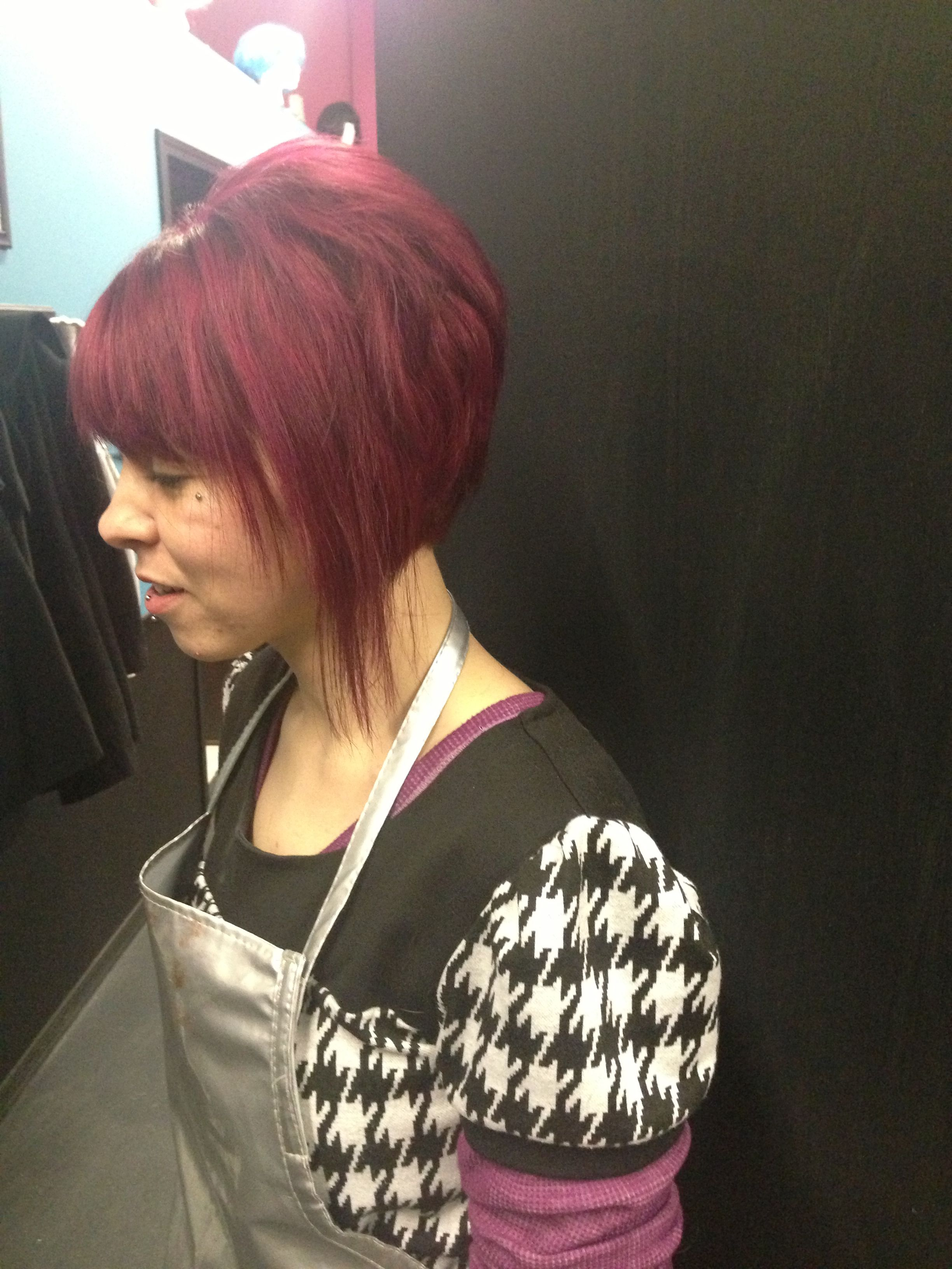Wild orchid color and short cut