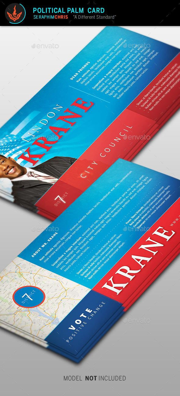 Political Palm Card Template   Card Templates Business Cards