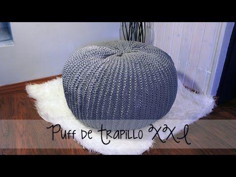 Puff de trapillo XXL - Paso a paso | פאף | Pinterest | Ottomane ...