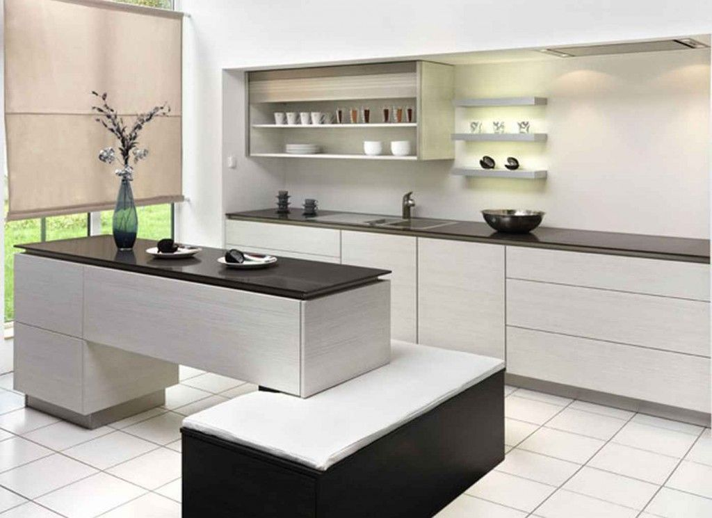 Superieur Easy Ways To Make Japanese Kitchen Design: White Modern Japanese Kitchen  Design With Black Table