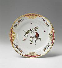 A large Berlin KPM porcelain platter made for Count Rothenburg