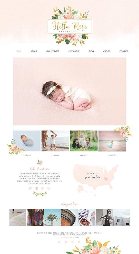 Wix Website design, photography website, website template, logo ...