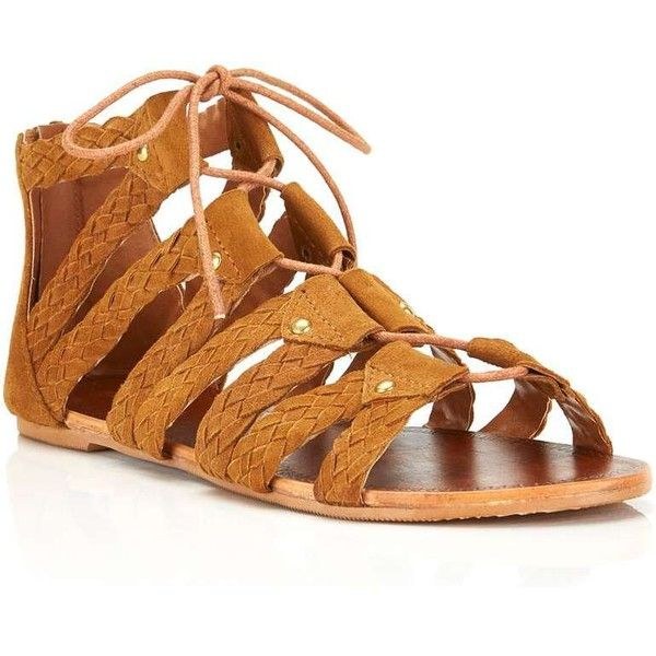 Miss Selfridge Free Plaited Ghillie Sandal ($35) ❤ liked on Polyvore  featuring shoes,