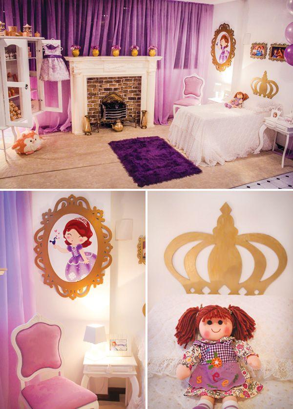 Fiesta Castillo De La Princesa Sofía Decoración De Habitación De Princesa Habitación De Princesa Disney Habitación De Princesa