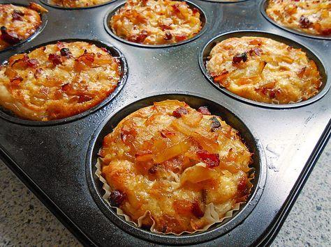 zwiebelkuchen muffins in 2018 fingerfood pinterest zwiebelkuchen muffins und herzhaft. Black Bedroom Furniture Sets. Home Design Ideas