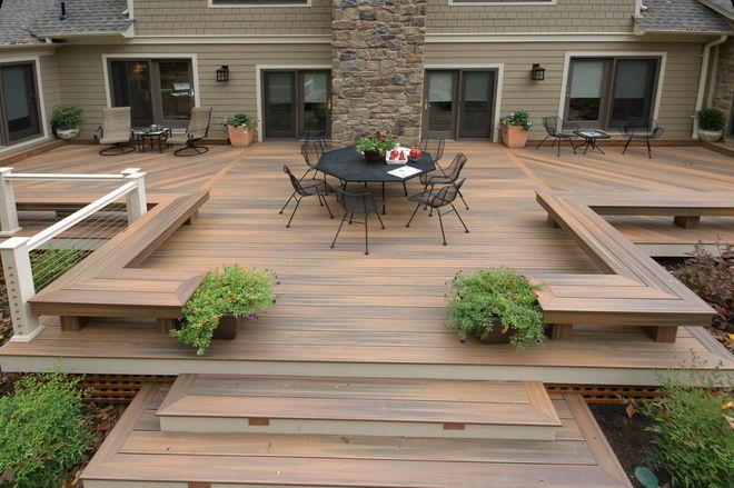 Ground Level Decks Modern Deck By Fine Decks Inc Backyard