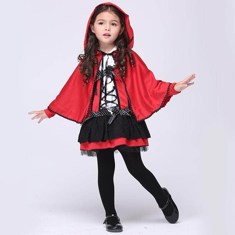 Click to Buy \u003c\u003c 2016 Children Girl Halloween Costumes Girls Red