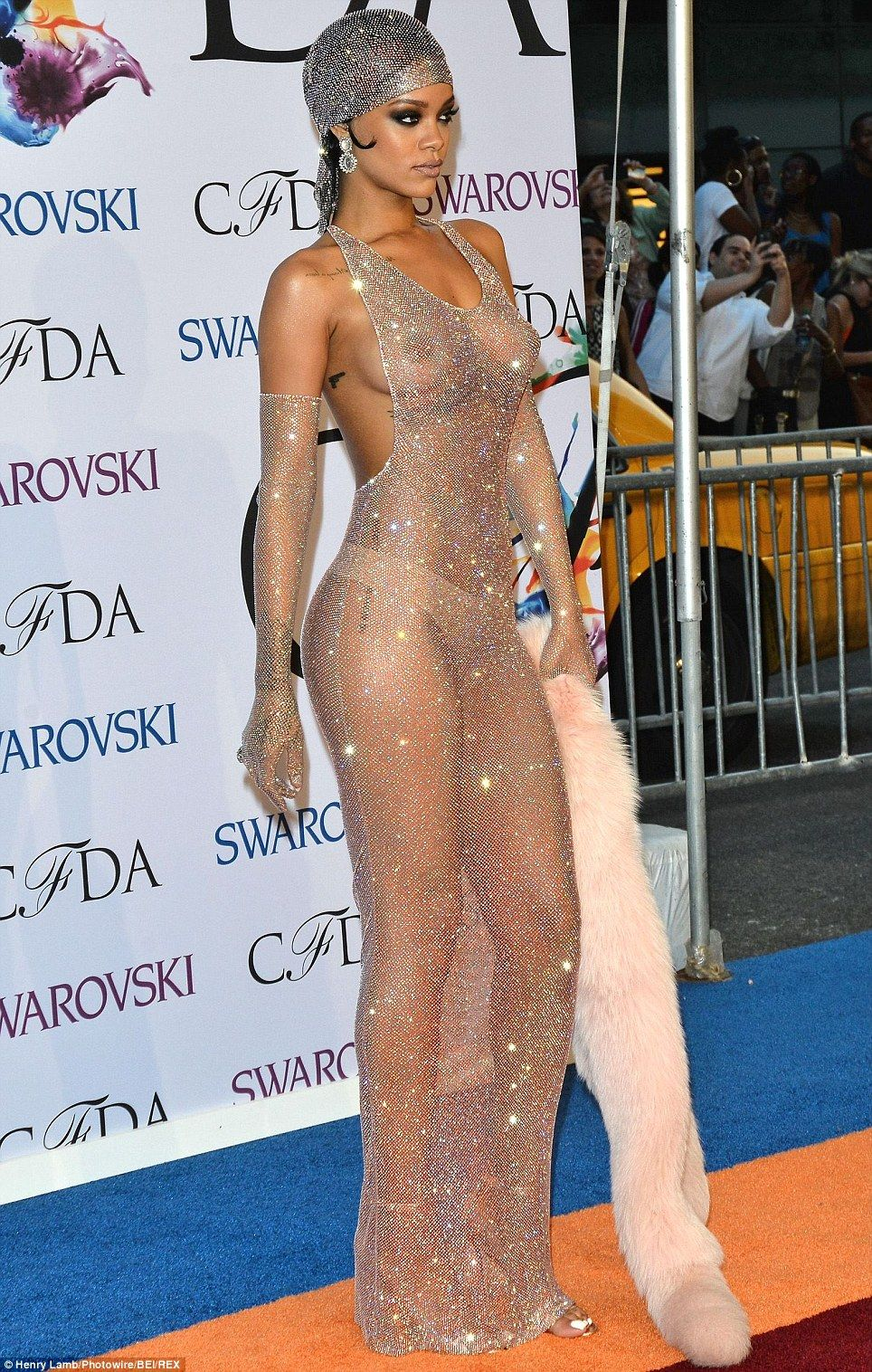 Rihanna Leaves Nothing To The Imagination In Sheer Dress At Cfdas Sheer Dress Celebs Rihanna