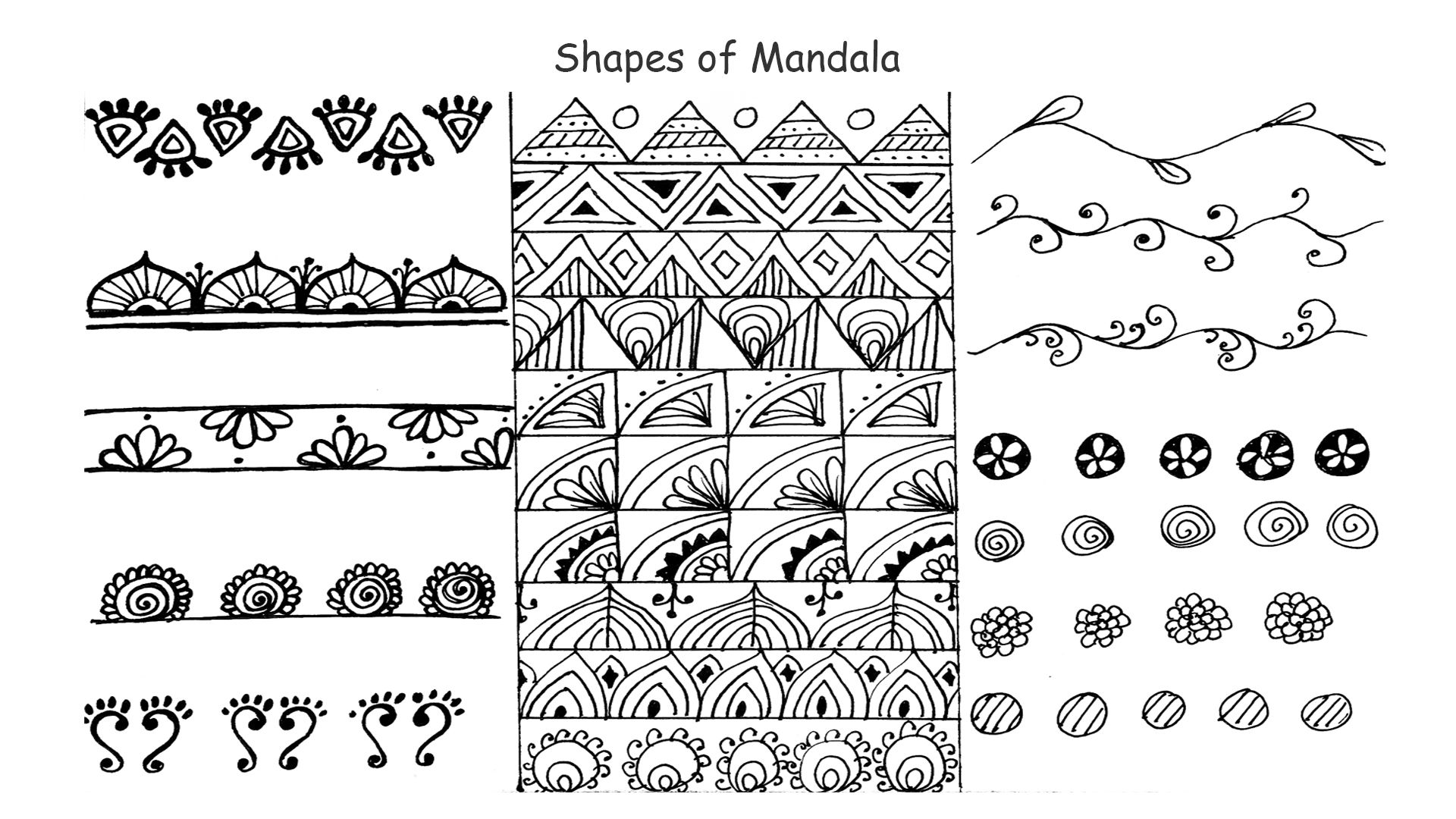 How To Draw Mandala Basic Shapes For Beginner Step By Step