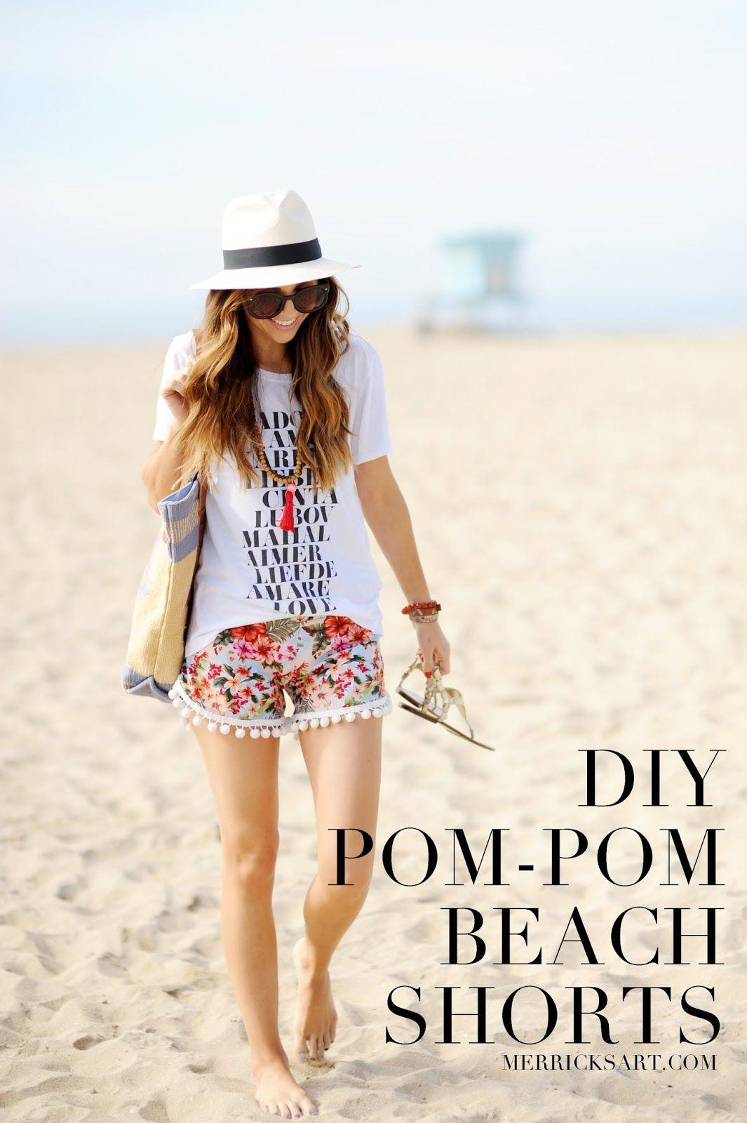 DIY FRIDAY: POM-POM BEACH SHORTS (Merrick\'s Art) | diy. | Pinterest ...