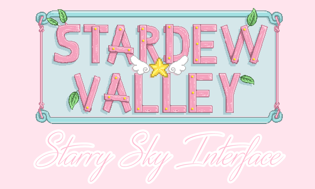 Starry Sky Interface Cute Pastel Magical Girl Palette At Stardew Valley Nexus Mods And Community Stardew Valley Stardew Valley Fanart Magical Girl