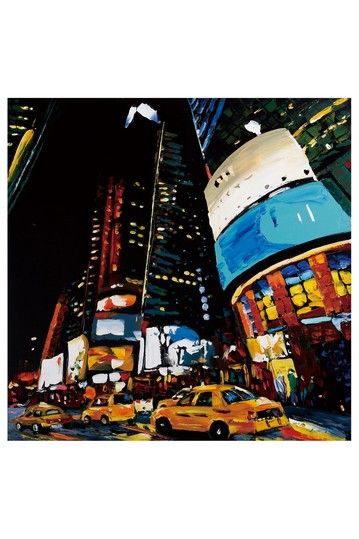 NYC-Times Square,Oil painting on canvas