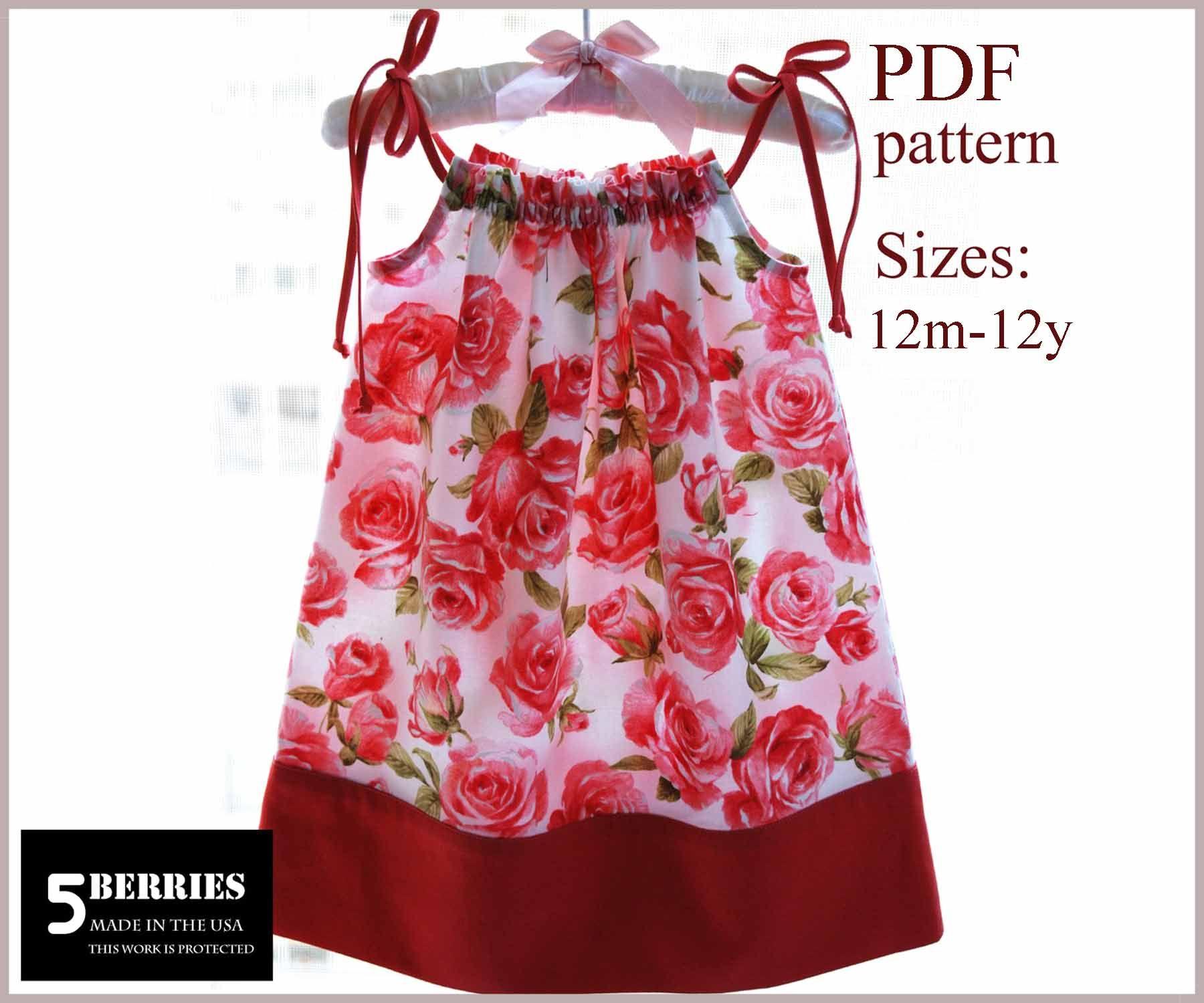 Pillowcase Dress Pattern for little girls