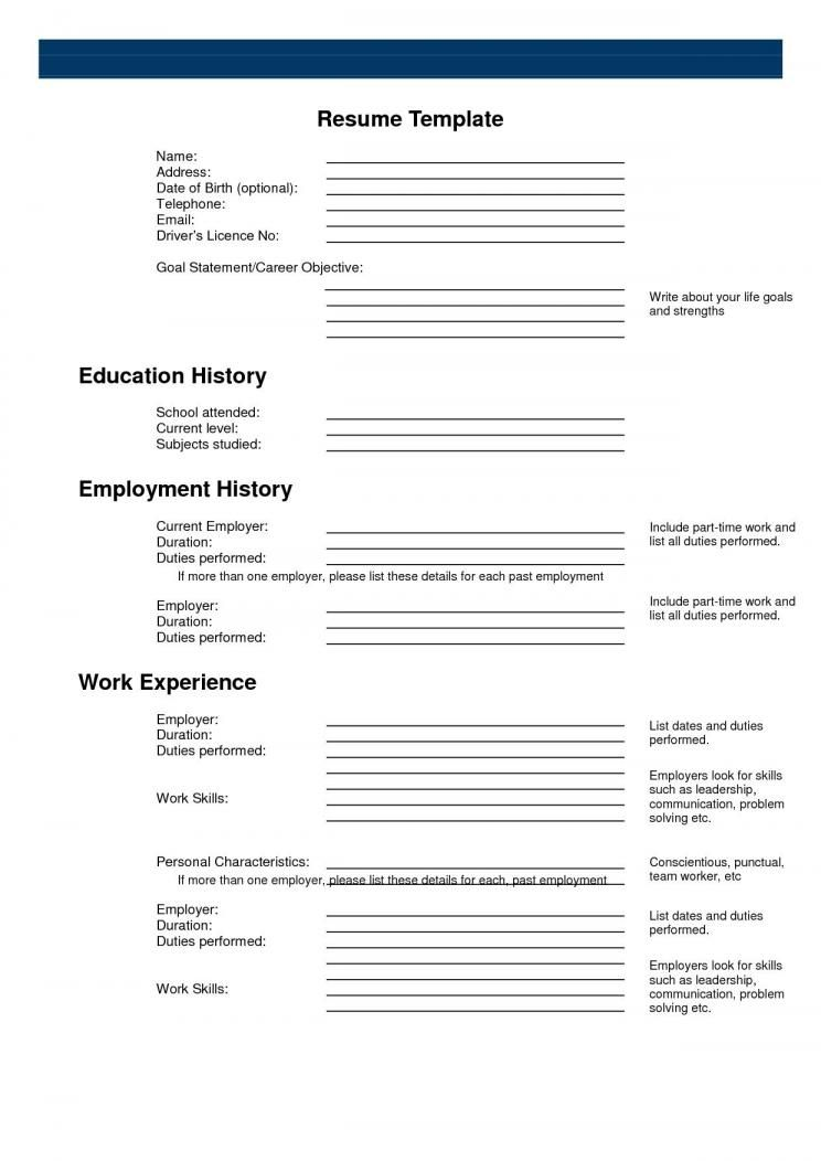 Free Printable Resume Templates Pdf In 2020 Free Printable Resume Free Printable Resume Templates Resume Template