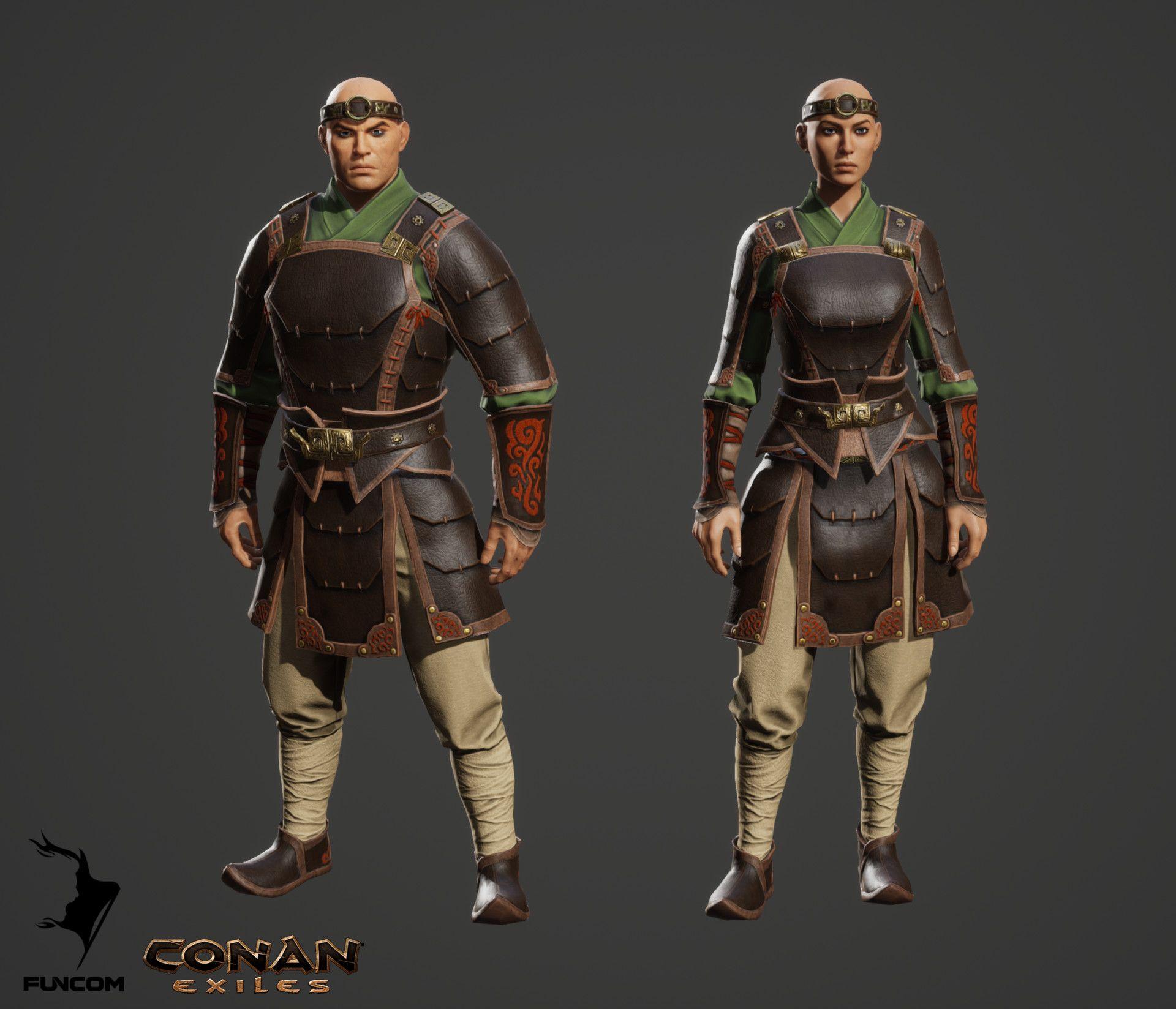 ArtStation - Conan Exiles - Khitan Mercenary Armor , Oda