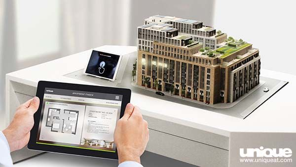 Interactive Scale model of Lincoln Square apartment building in ...
