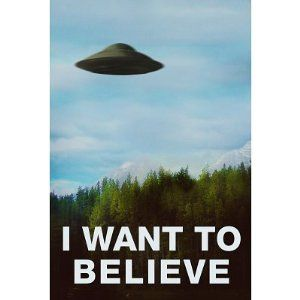 24x36 The X Files I Want To Believe TV Poster Print
