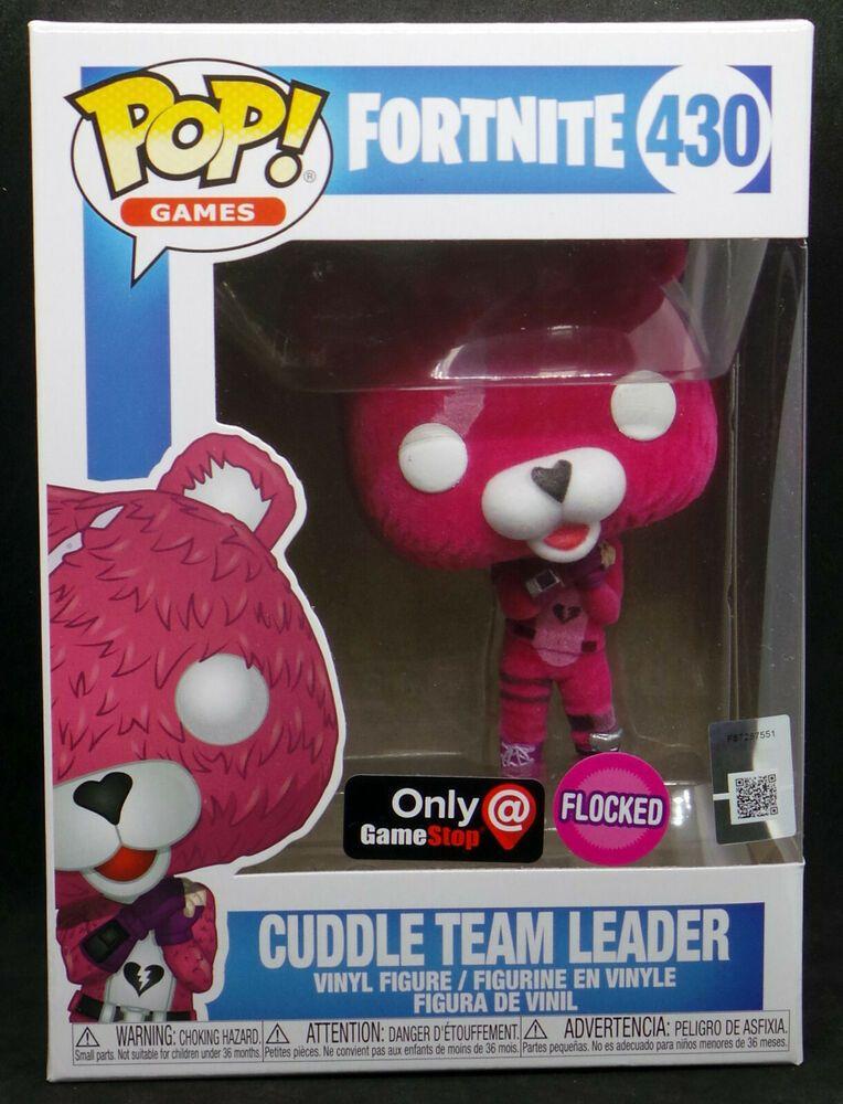 Funko POP Fortnite Cuddle Team Leader Flocked GameStop Exclusive