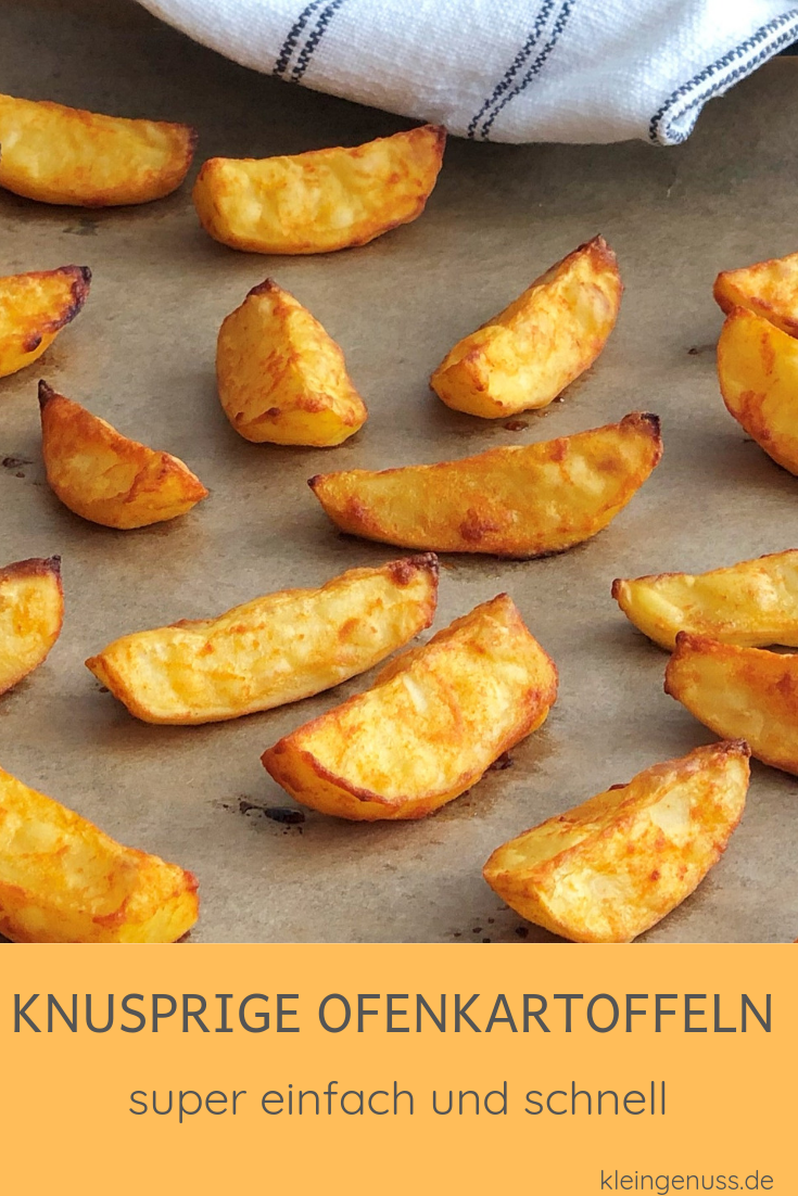 Photo of Crispy baked potatoes! This simple dish is in the oven in a few minutes …