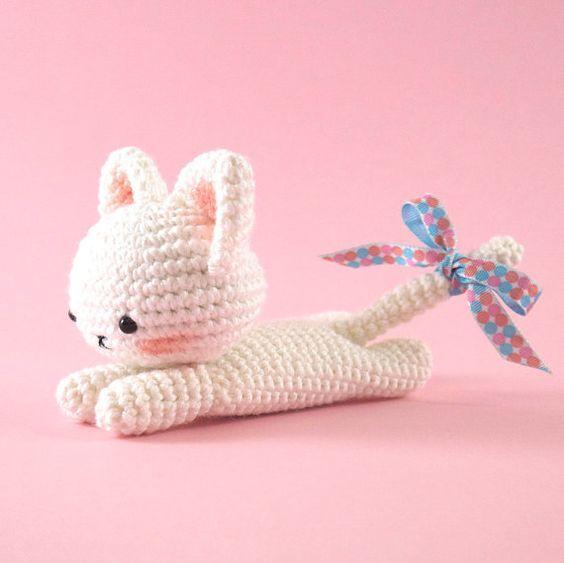 Amigurumi crochet cat PATTERN ONLY English | Poupées en crochet ...