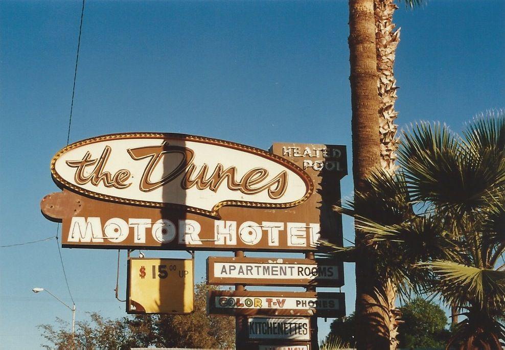 20 Dunes Motor Hotel Van Buren St Phoenix Az Replacement Image Retro Sign Old Signs Travel Finds