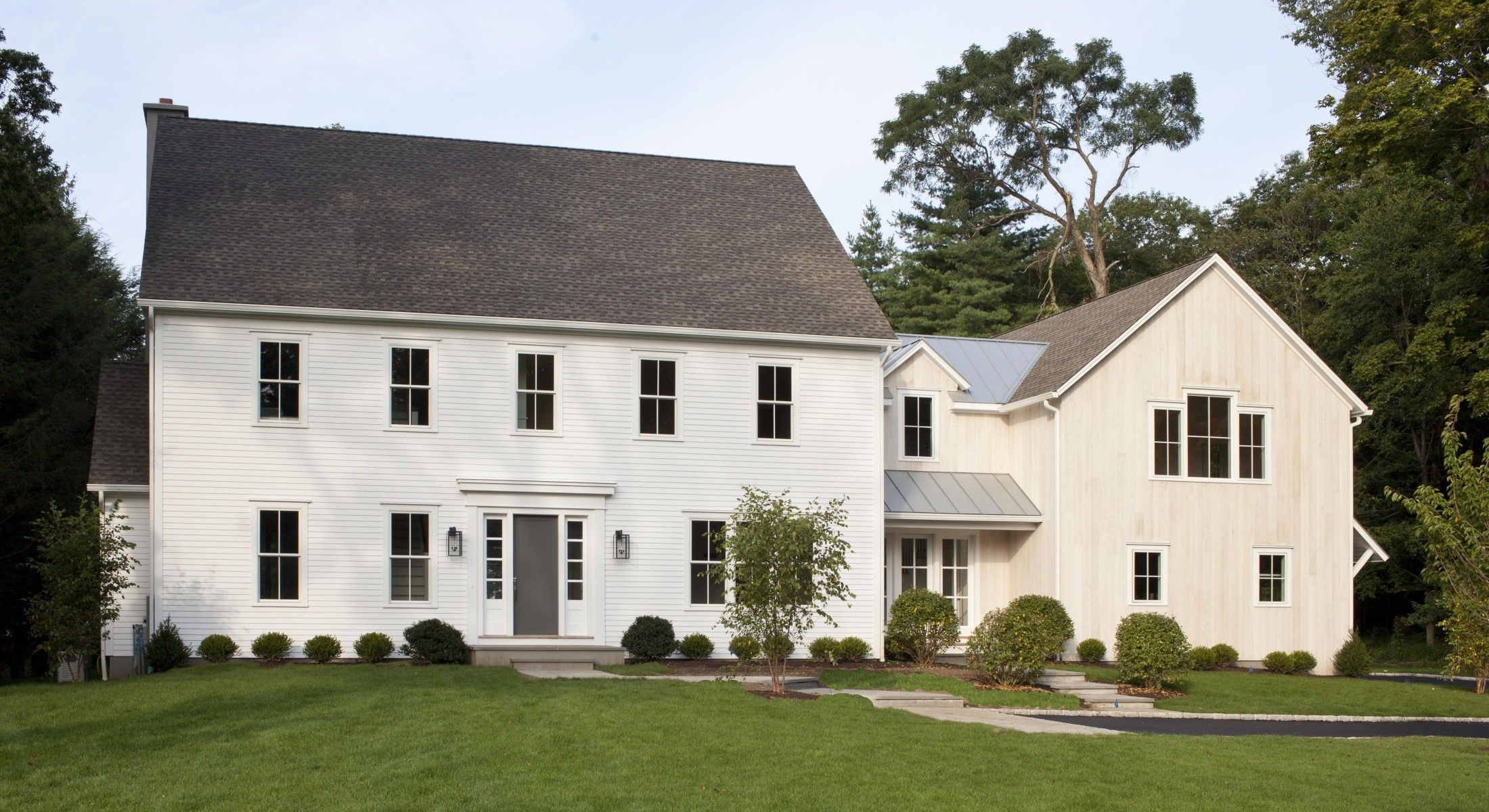 Renovation Idea For Connecting House To Barn Colonial House Exteriors Colonial Exterior Colonial House Plans