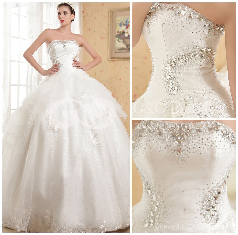 Huge Ball Gown Wedding Dresses | Ball-Gown Tulle Floor-length ...