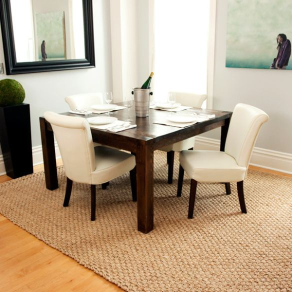 dining dilemma… what to put underfoot