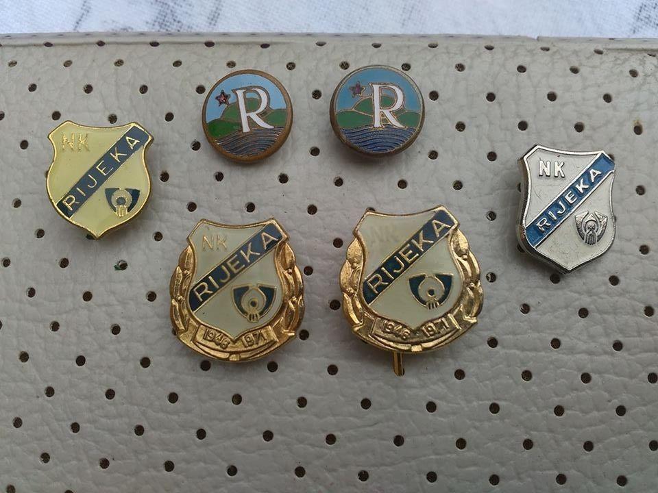 f379ab3fab68 NK Rijeka Hrvatska Football Vintage Enamel Pin Badges FC Rijeka Soccer YUGO   NKRijeka
