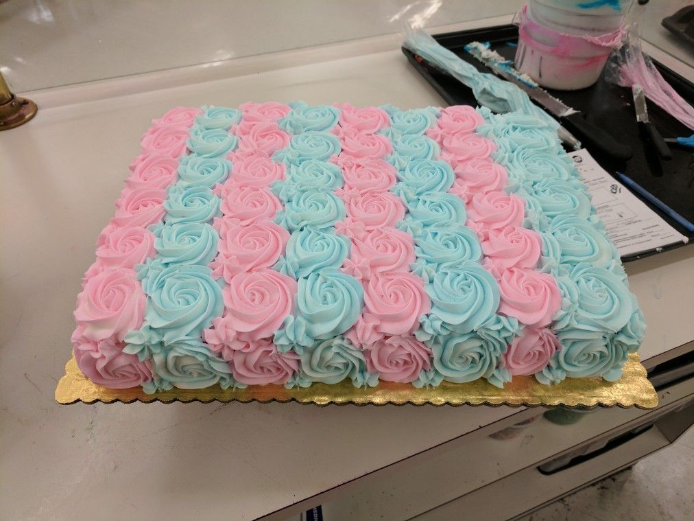 Gender Reveal Sheet Cake Baby Gender Reveal Party Baby Reveal