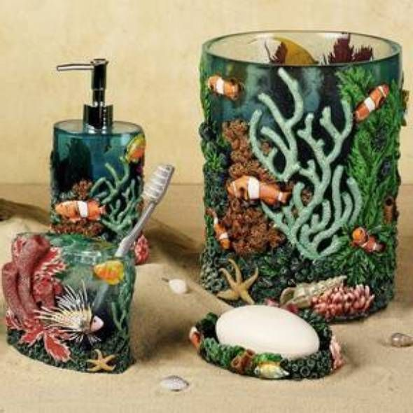 Blue Lagoon Fish Bathroom Accessories | For the Home | Pinterest ...