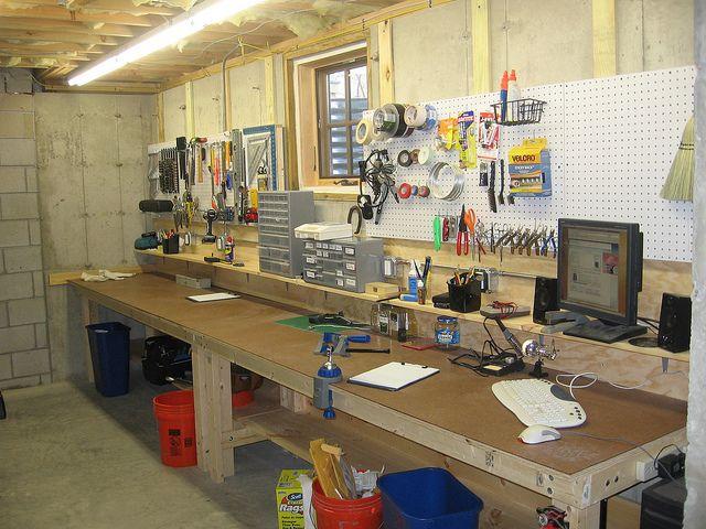 Lighting Garage Workshop Basement Workshop Work Space