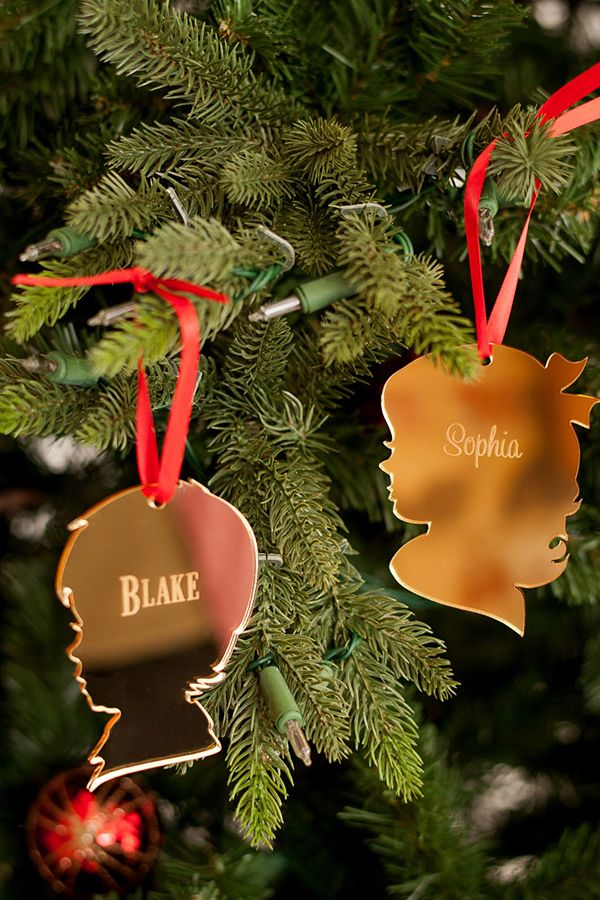 Custom Christmas Ornaments Canada.Personalized Vintage Silhouette Acrylic Christmas Ornament