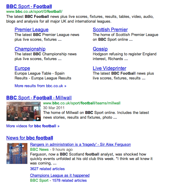 Google Showing Fewer Than 10 Results For Some Searches Premier League Premier League News Bbc Football
