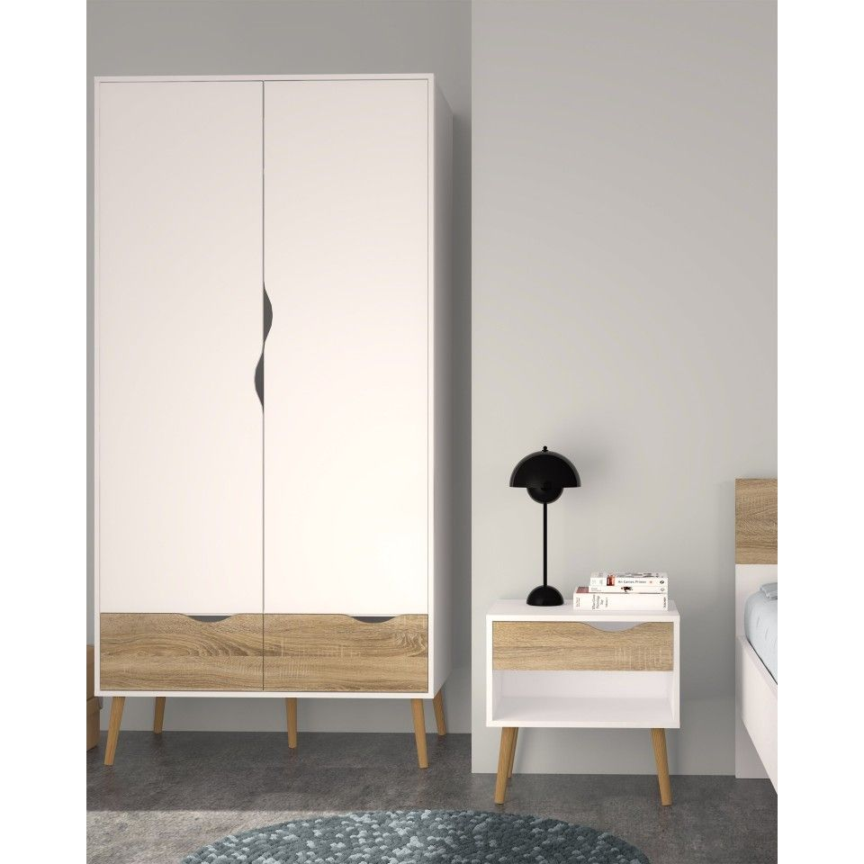 kleiderschrank oslo 2 t rig wei kinderzimmer pinterest schmaler schrank. Black Bedroom Furniture Sets. Home Design Ideas