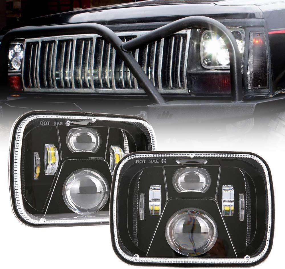 Bicyaco Dot 110w 5x7 Inch Led Headlights 7x6 Hi Low Led Sealed